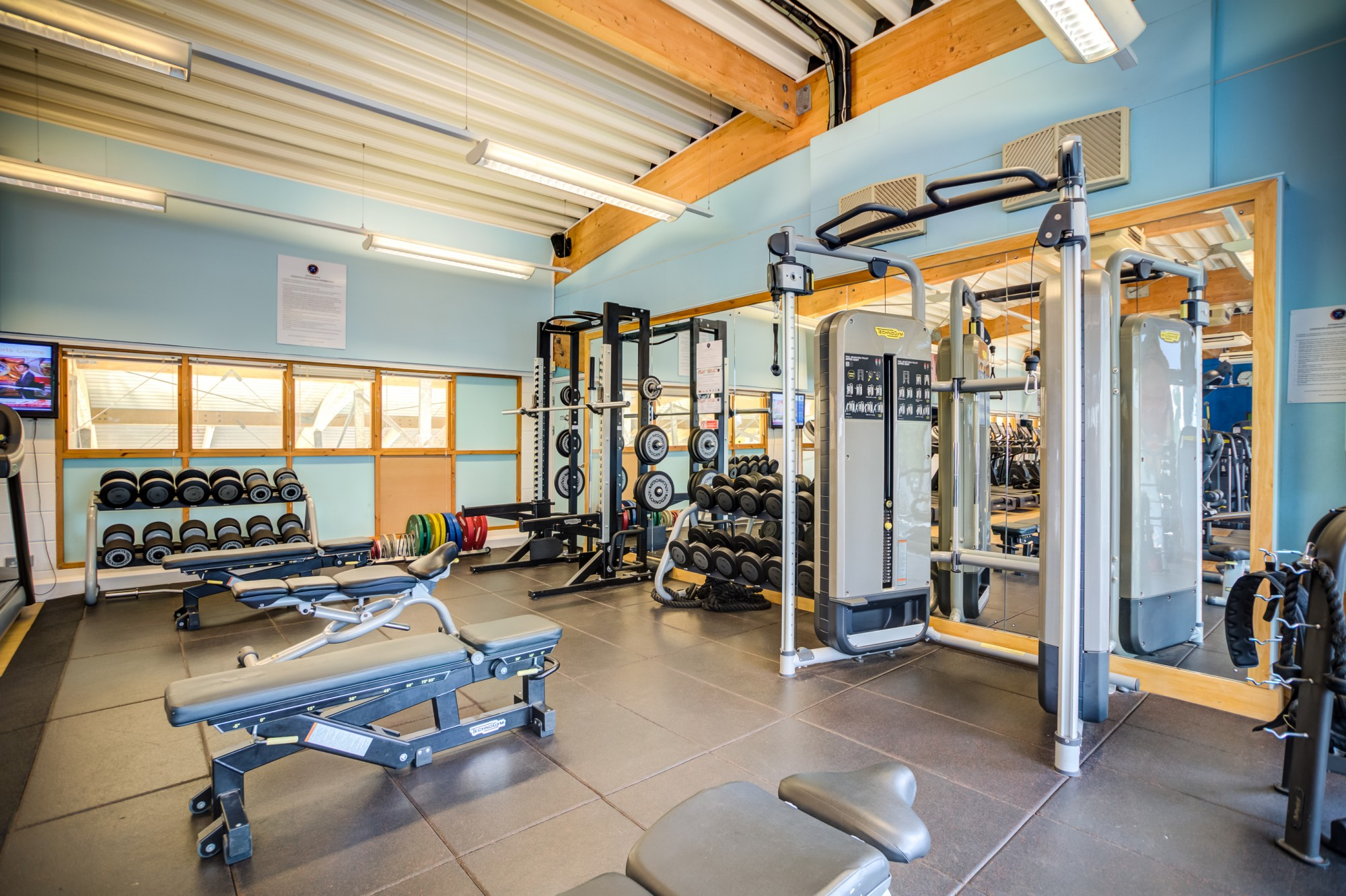 Explore our newly expanded free-weights area